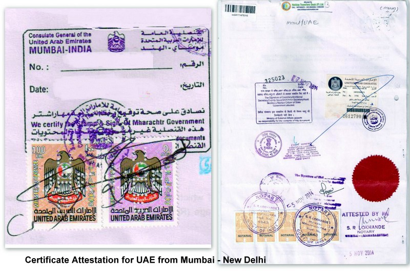 UAE certificate attestation
